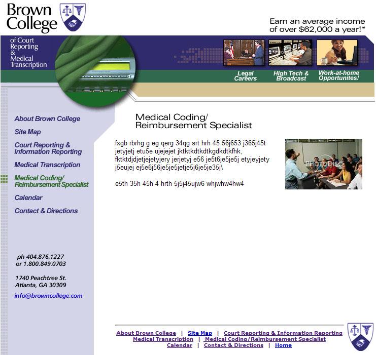 Brown College Medical Transcription Coding