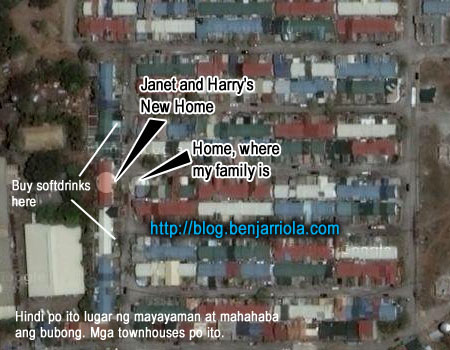 Janet and Harry's New Home. Home where my family is. Buy Softdrinks here. Hindi po ito lugar ng mayayaman at mahahaba ang bubong. Mga townhouses po ito.
