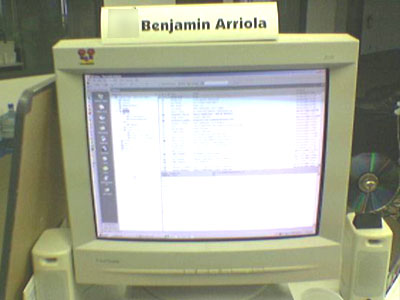Benj Arriola's Computer Monitor at Einstein Industries with Anti-Spyware CD