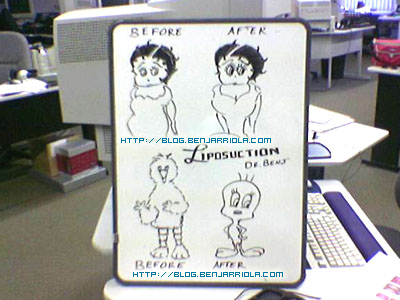 Dr. Benj Arriola Liposuction Operation on Betty Boop and Big Bird to Tweety