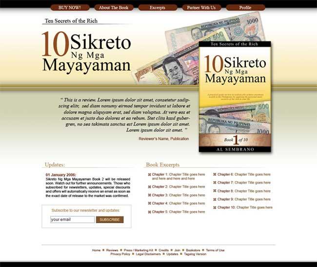 Design for 10 Sikreto ng Mayayaman
