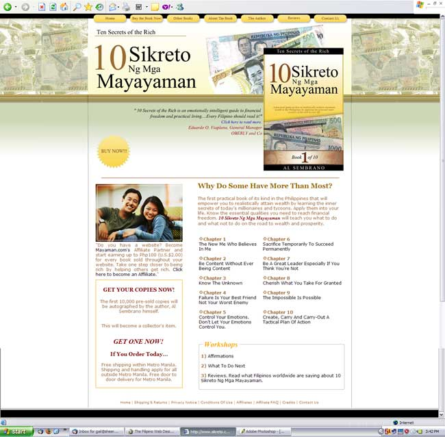10 Sikreto ng Mayayaman, the book. Original design concept by Gail Dela Cruz with minimal design changes, was unpaid and all payments refunded.