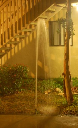 Water Sprinkler Turned into 5-foot Water Fountain