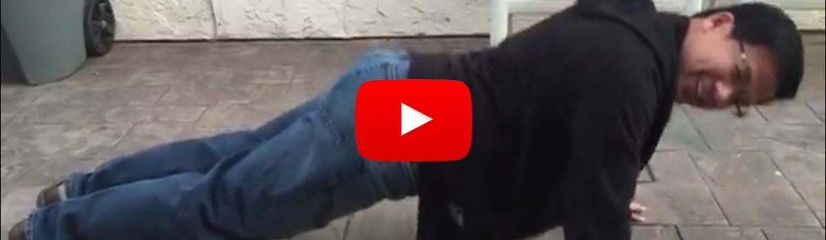 Scroll down to video to play #22pushup challenge of Benj Arriola - Day 1