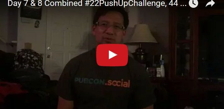 Day 7 & 8 22PushUpChallenge Video