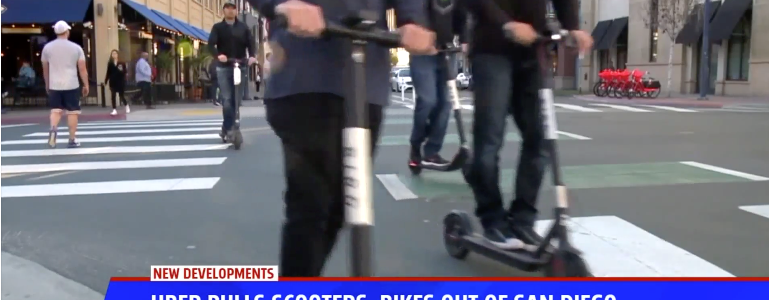 Uber Scooters Removed In San DIego
